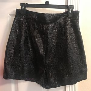 NEVER WORN Black Sequined High-Waisted Short